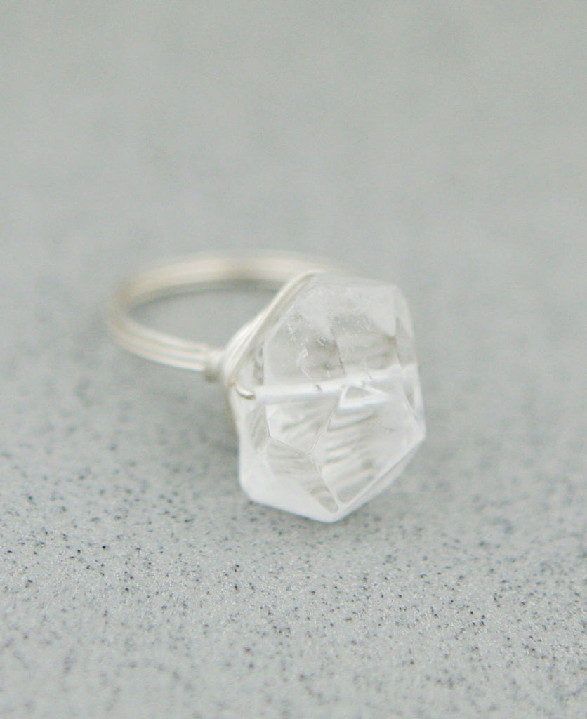 Clear Quart Gemstone Ring