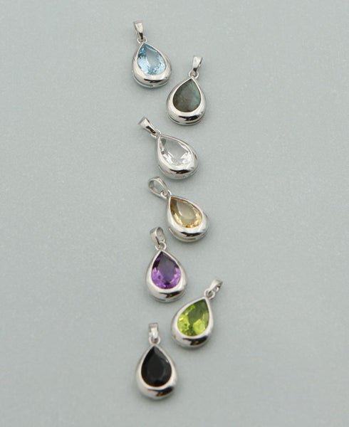 Teardrop Charm Pendants