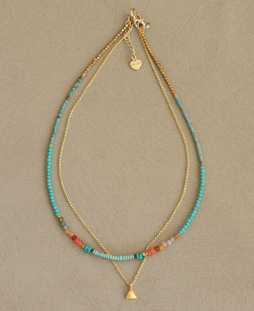 Beaded Tropical Thai Beach Necklace