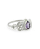 Thai Queen Amethyst Gemstone Ring, Sterling Silver