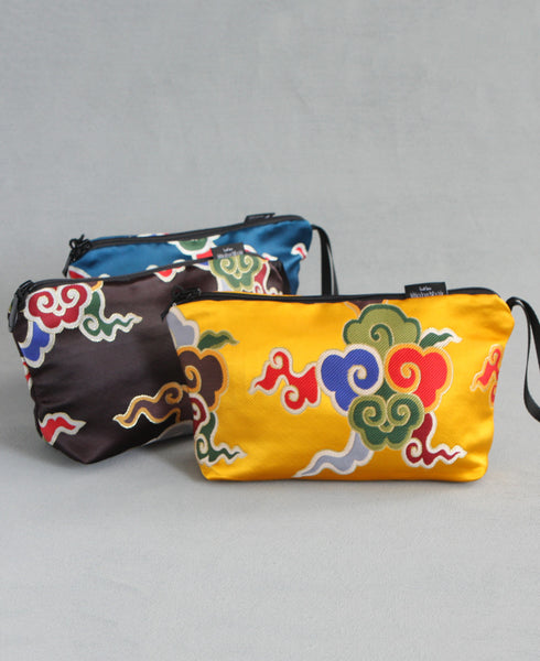 Fair Trade Tibetan Brocade Zipper Pouches