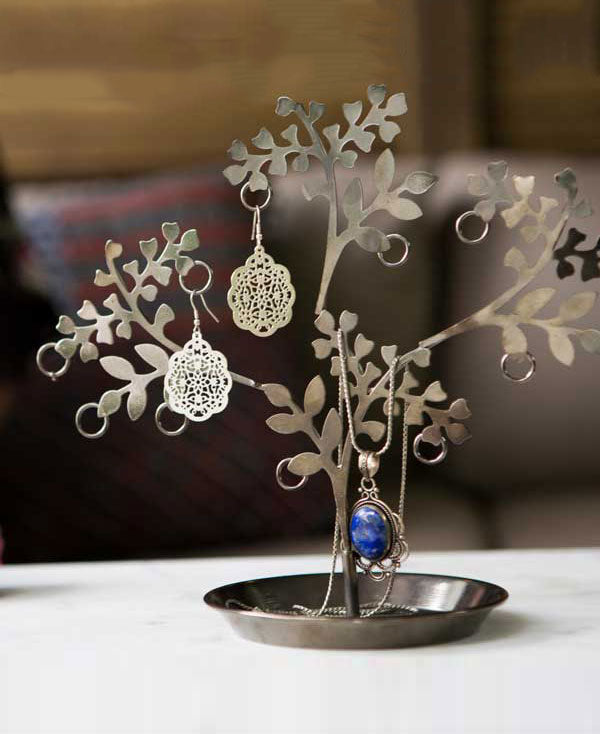 Fair Trade Patta Tree Jewelry Stand, India