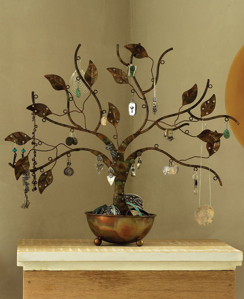 Shabby Chic Tree of Life Jewelry Stand