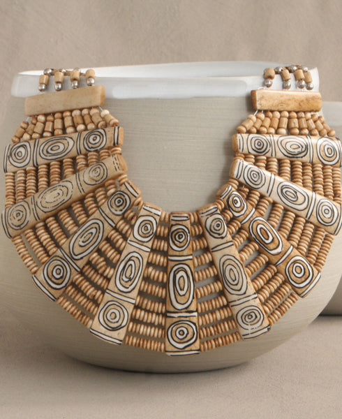 Tribal Tattoo Statement Necklace, Nepal