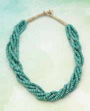 Turquoise Beaded Rope Necklace, Nepal