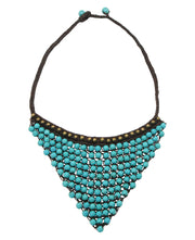 Beaded Triangle Necklace