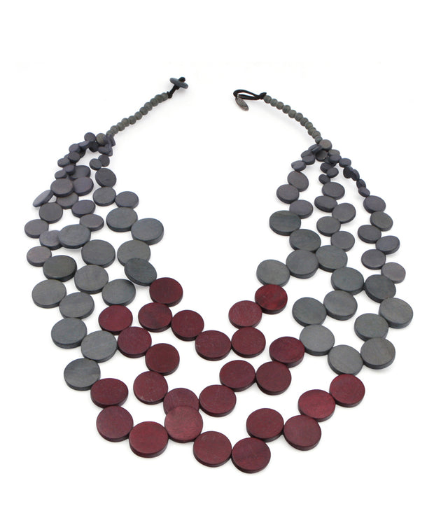 Purple and Grey Twilight Necklace