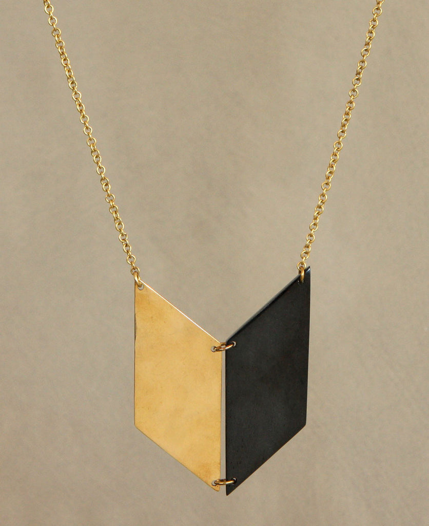 Fair Trade Two Tone Arrow Necklace