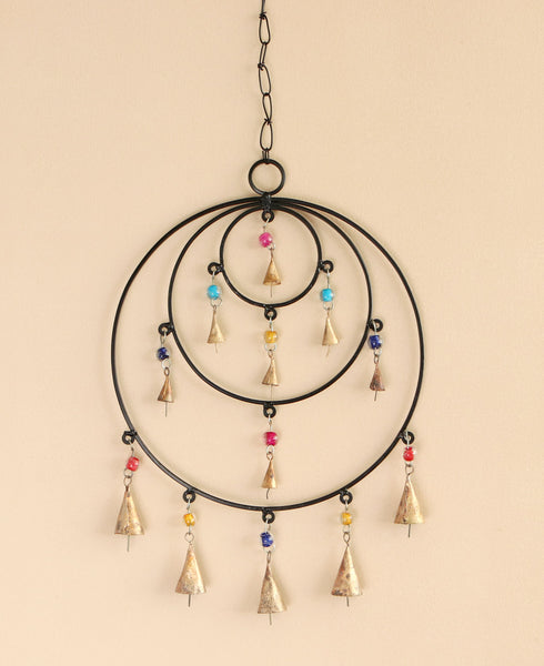 Geometric Beaded Halo Chime, India