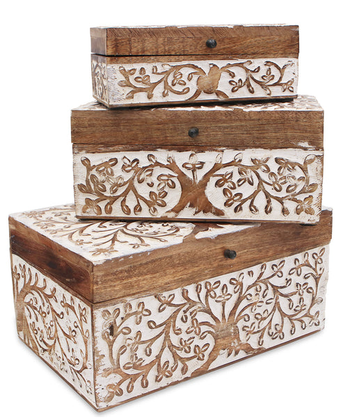Embossed Floral Boxes