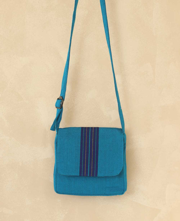 Fairtrade Striped Guatemalan Flap Bag