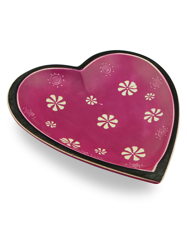 Fair Trade Soapstone Heart Dish, Kenya