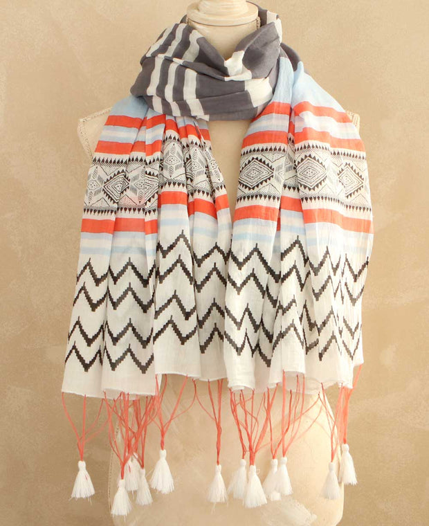 Contemporary Striped Scarf