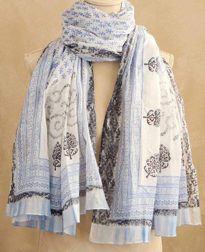 Azure and Navy Scarf