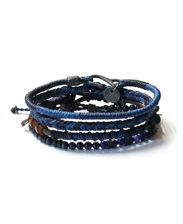 Men's Wakami Earth Bracelet In Blue