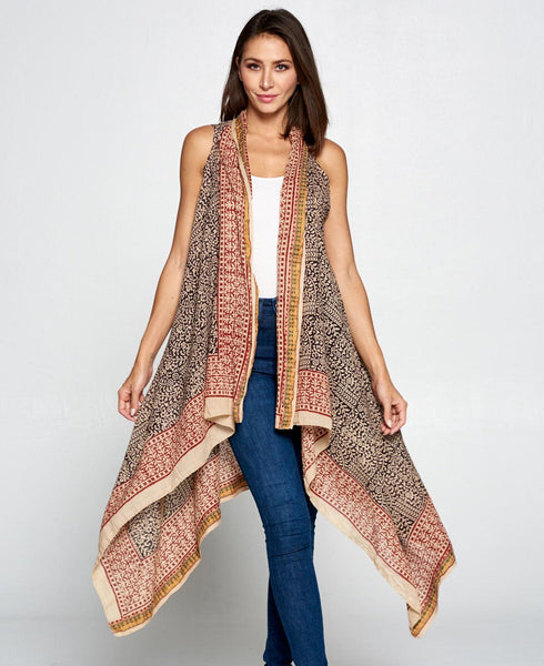 Indian Tribal Print Cotton Shrug Wrap