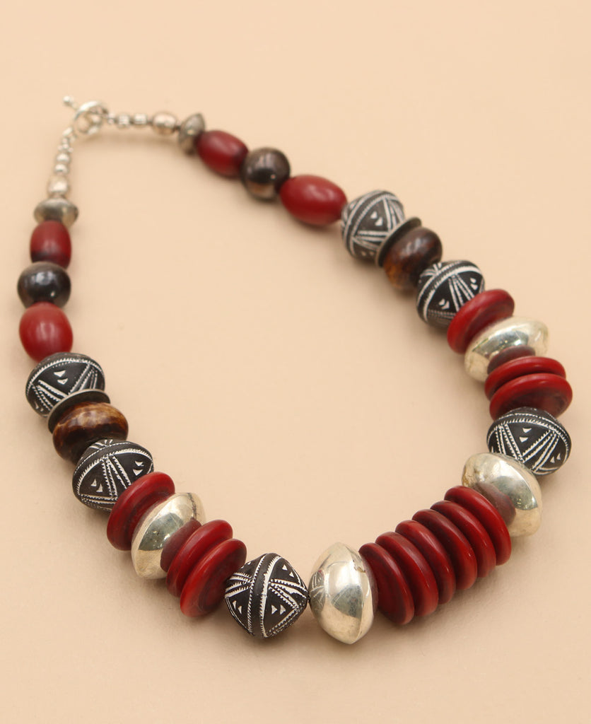 Red Amber African Necklace