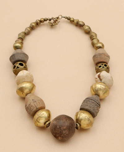 Terracotta African Statement Necklace