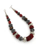 Red Amber African Statement Necklace