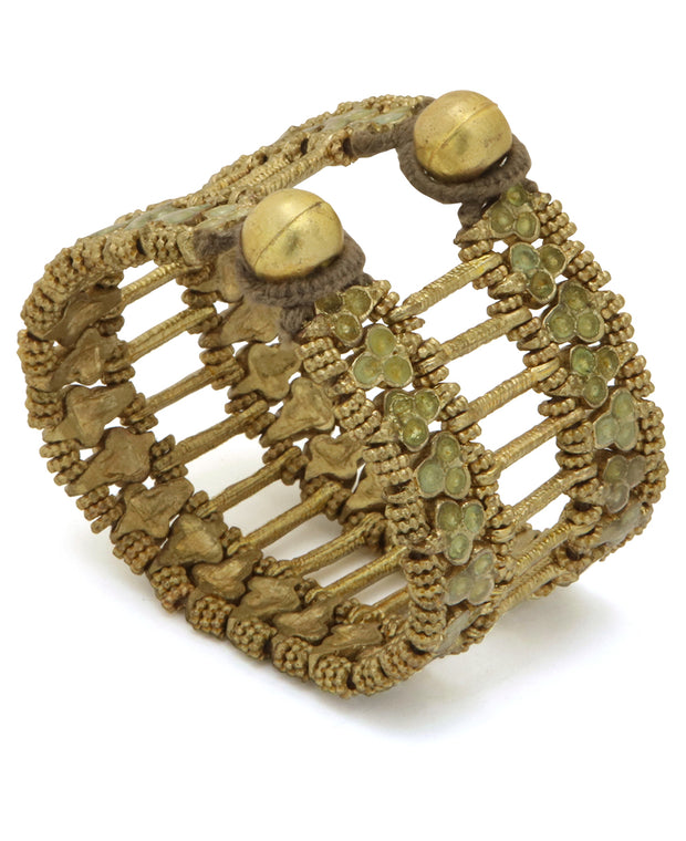 Gold colored bracelets, India