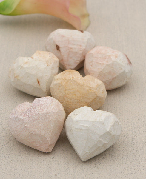 Work In Progress Stone Heart Paperweights, Set of 6