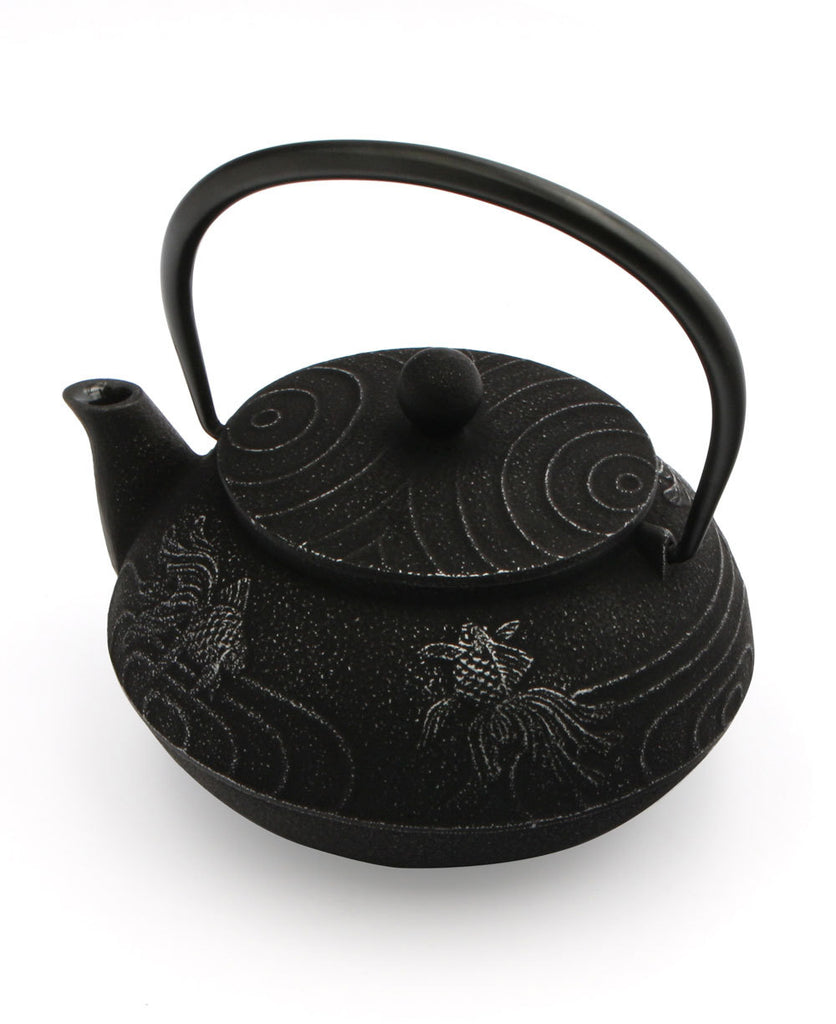 Japanese Iron Teapot With Goldfish