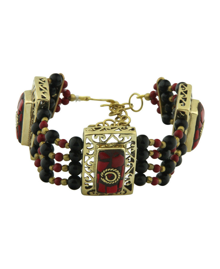 Temple Gates Indian Mosaic Bracelet