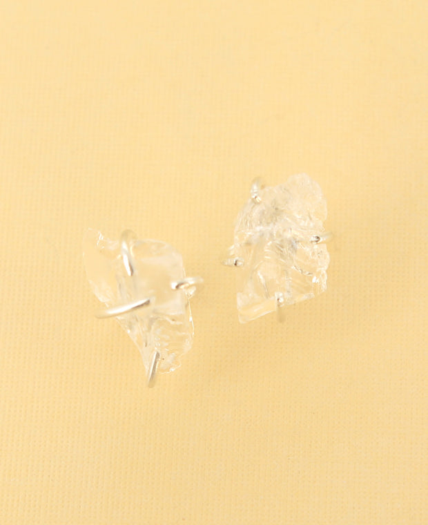Clear Quartz Stud Earrings