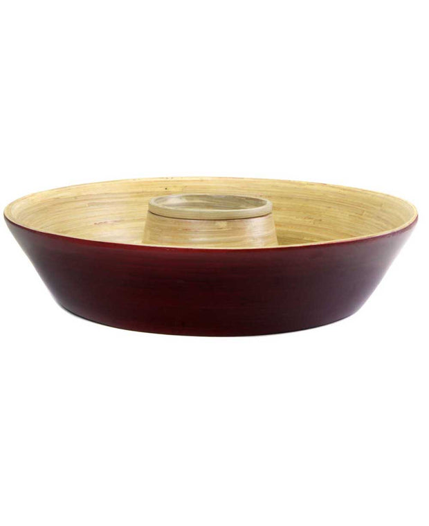 Red Bamboo Bowl Set