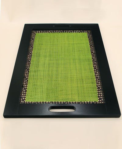 Handmade Columbian Green Iraca Palm Tray