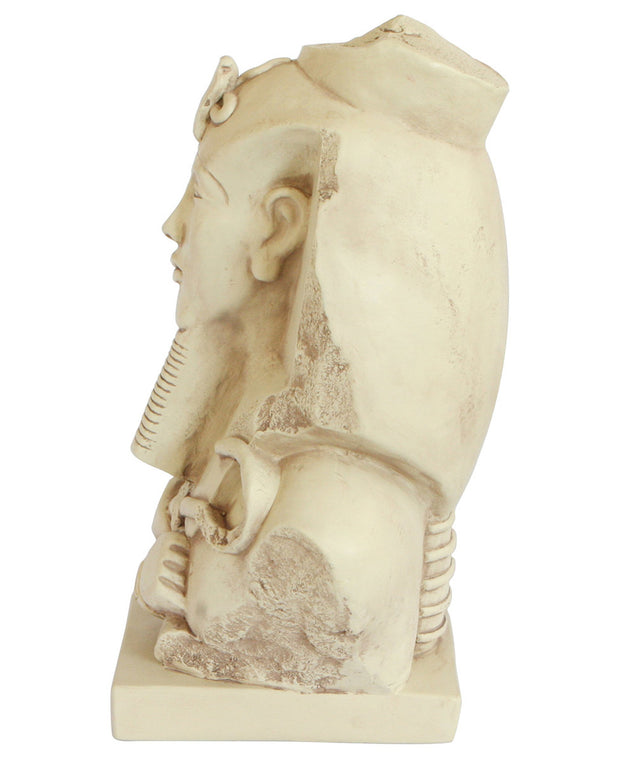 Bust Statue of Egyptian King Akhenaten, 11.5 Inches
