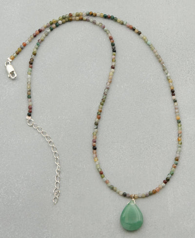 Aventurine and Agate Necklace