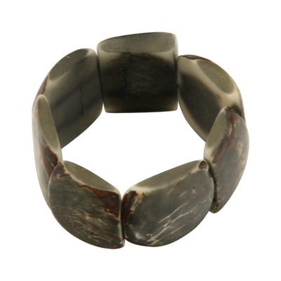 Classic Tagua Nut Grey Stretch Bracelet
