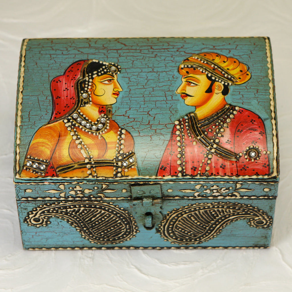 Legendary Love Hand-Painted Jewelry Box