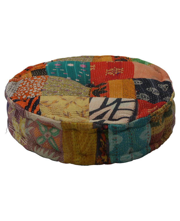 Kantha Sari Patchwork Cushion, India