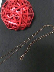 Rose gold Ball Chain 80cm
