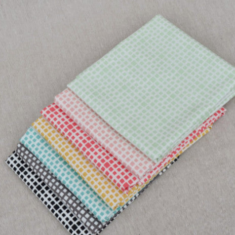 Half Yard  Bundle of Squared Elements