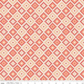 Woodland Geometric in Coral