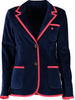 Girls Navy Terry Cloth Toweling Blazer (available in 3 trim color options)