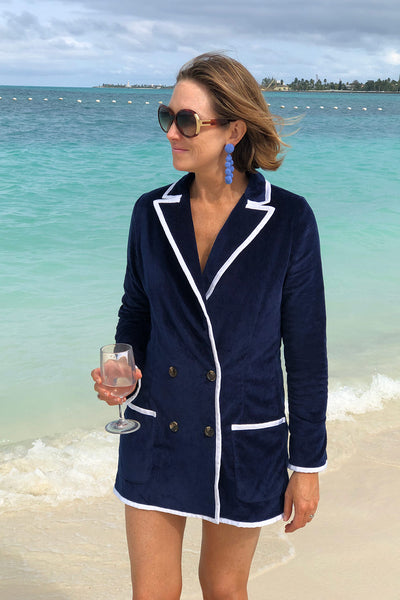 The Siren Double Breasted Blazer / Mini-dress in Navy