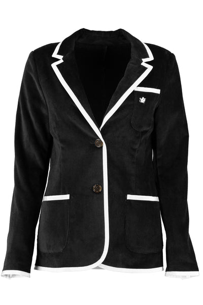 Women's Black & White Toweling Blazer