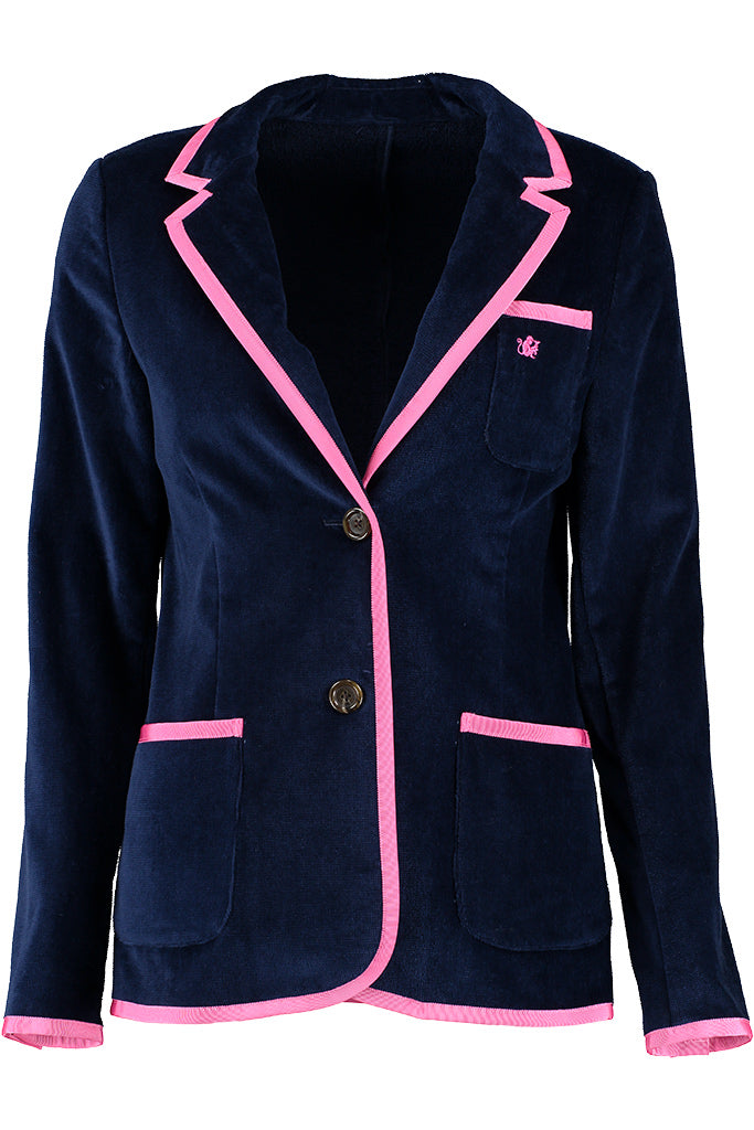 Women's Navy & Pink Toweling Blazer