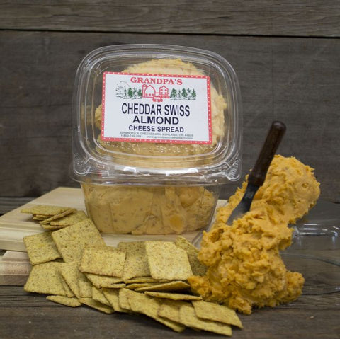 Cheddar Swiss Almond Cheese Spread