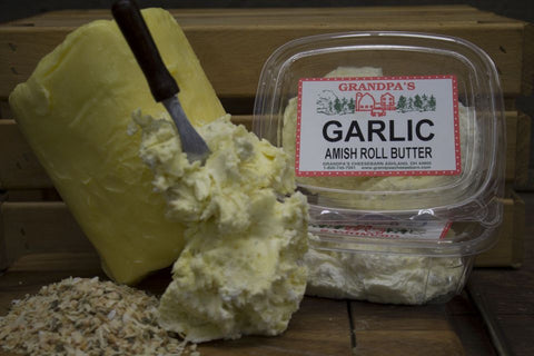 Homemade Garlic Amish Roll Butter