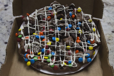 Loaded M & M Oreo Pizza