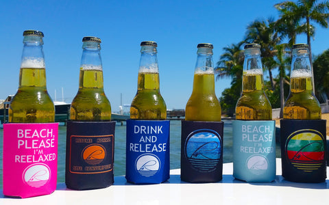 Koozies by Reelaxed Apparel for Fishing Boating Beaching Camping