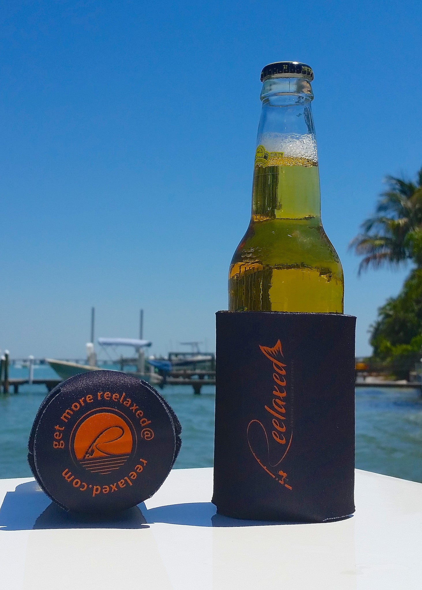 stay reelaxed maintain slow speed koozie