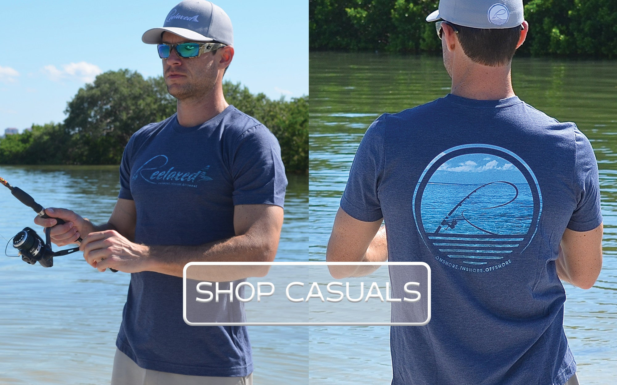 Fishing Casual Short Sleeve Shirts Beach Boating Fishing Bar 50/50 Performance