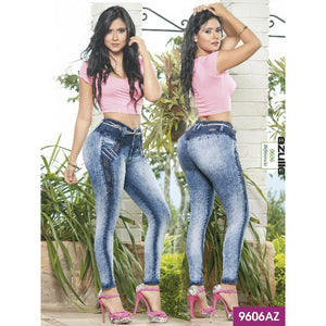 Jeans Levantacola Colombiano Azulle  Ref. 232 -9606-AZ SIZE 3 USA 8 COL - awesome jeans colombia