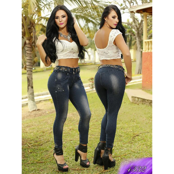 Jean Levantacola Colombiano Kapriccio  Ref. 126 -4332 SIZE 5 USA 10 COL - awesome jeans colombia